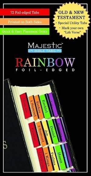 Bible Index Tabs Rainbow (Tabbies)
