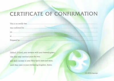 Certificate of Confirmation (PK 10) (Cards)
