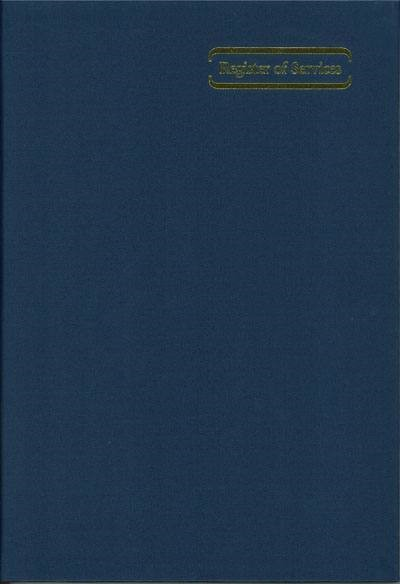 Service Register Vertical (Hard Cover)