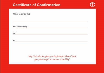 Certificates of Confirmation (pack of 10) (Paperback)