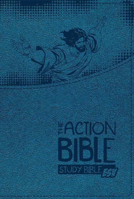 ESV Action Bible Study Bible, Blue (Imitation Leather)