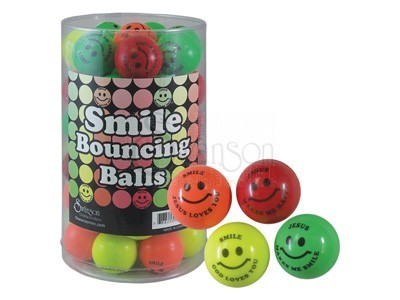 Smile God Loves You Bounce Balls Pk48