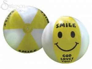 Beach Ball Smile God Loves You