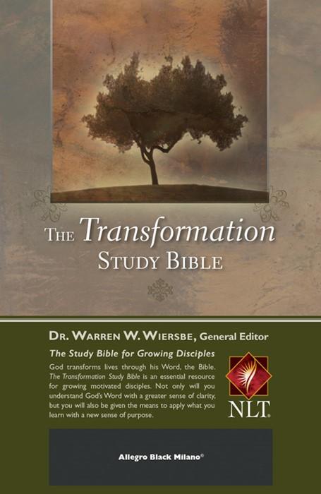 The Transformation Study Bible--Allegro Black Milano (Leather Binding)