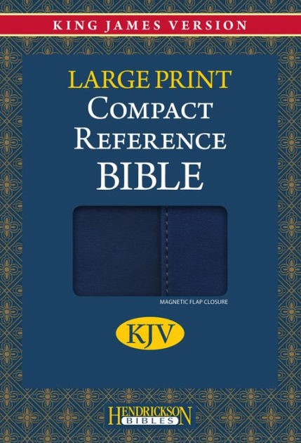 KJV Large Print Compact Reference Bible With Flap, Blue (Flexisoft)