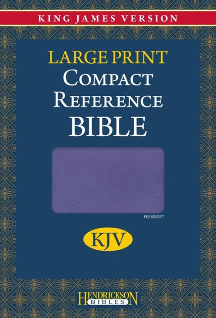 KJV Large Print Compact Reference Bible, Lilac (Flexisoft)