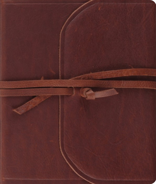 ESV Journaling Bible (Brown, Flap With Strap) (Paper Back)
