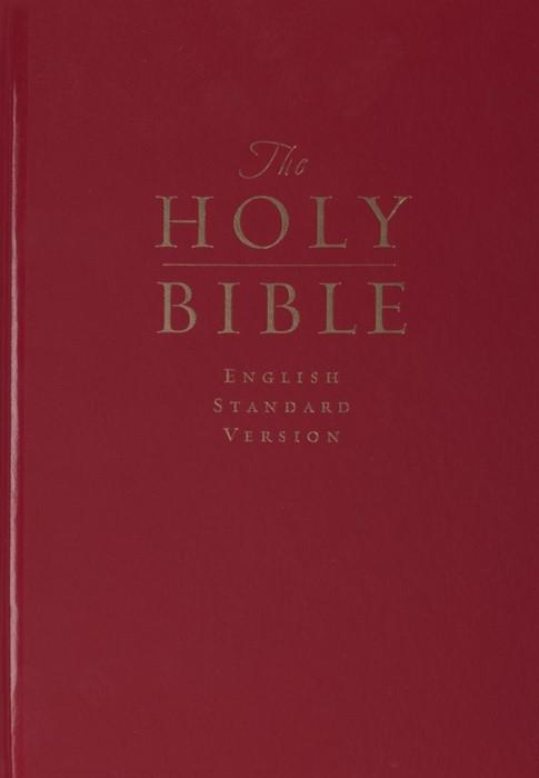 ESV Pew And Worship Bible, Large Print (Dark Red) (Paperback)