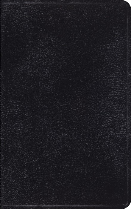 ESV Thinline Bible, Black (Genuine Leather)
