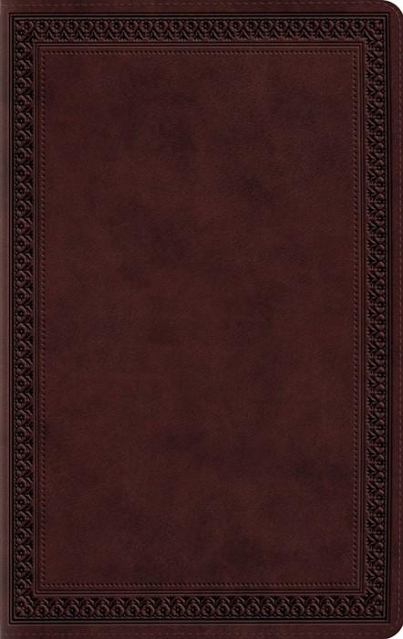 ESV Large Print Value Thinline Bible, Trutone, Mahogany (Imitation Leather)