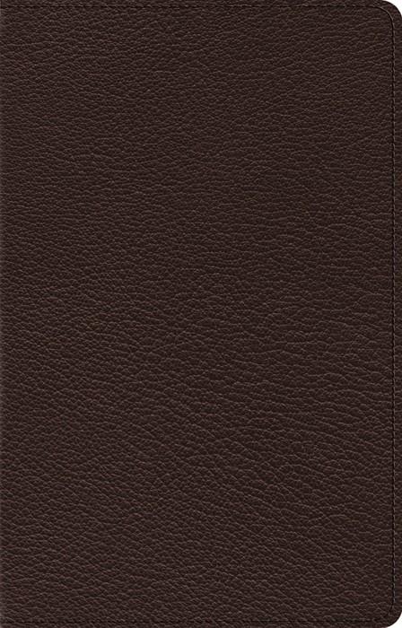 ESV Omega Thinline Reference Bible, Goatskin, Deep Brown (Genuine Leather)
