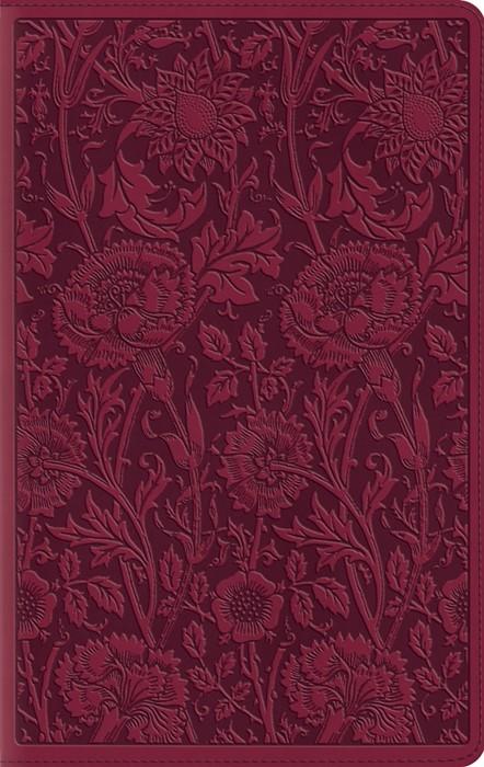 ESV Large Print Compact Bible, Trutone, Berry, Floral Design (Imitation Leather)