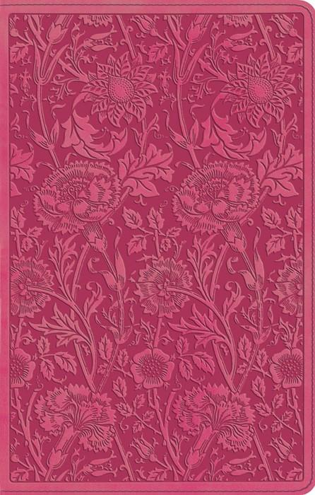 ESV Ultrathin Bible, Trutone, Berry, Floral Design (Imitation Leather)