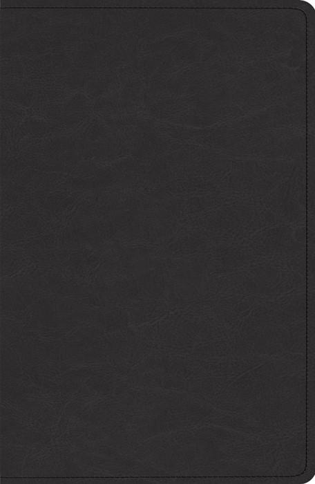ESV Heirloom Single Column Legacy Bible, Goatskin, Black (Genuine Leather)