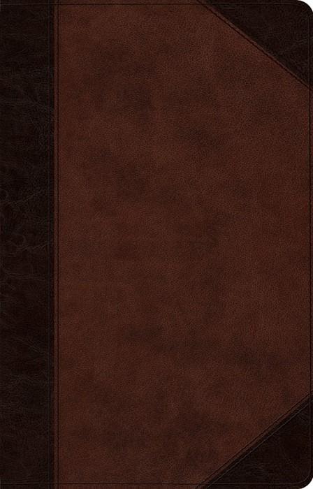 ESV Large Print Thinline Reference Bible, Brown/Walnut (Imitation Leather)
