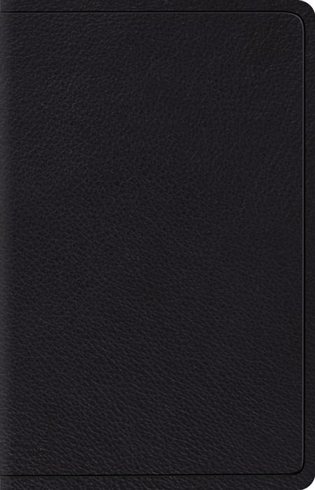 ESV Wide Margin Reference Bible, Black (Genuine Leather)
