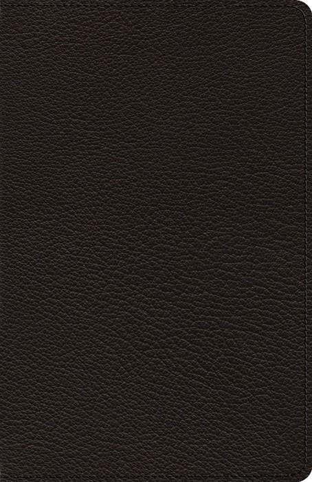ESV Heirloom Thinline Bible, Goatskin, Black (Genuine Leather)