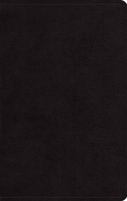 ESV Large Print Personal Size Bible, Black (Genuine Leather)