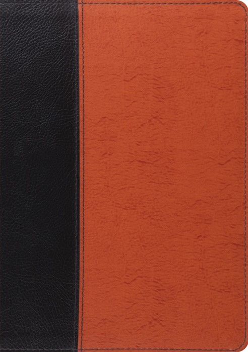 ESV Study Bible (Black/Saddle, Timeless Design) (Bonded Leather)