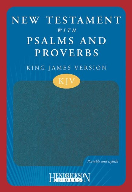 KJV New Testament with Psalms and Proverbs Blue Flexisoft (Imitation Leather)