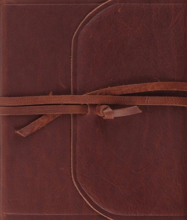 ESV Single Column Journaling Bible (Brown, Flap With Strap) (Leather Binding)