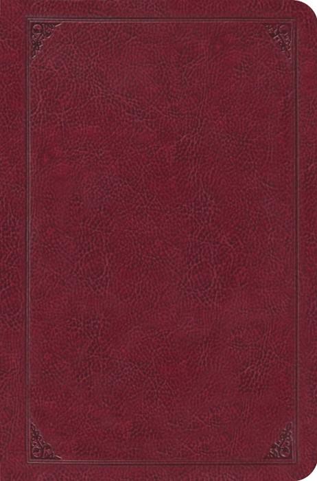 ESV Single Column Legacy Bible Trutone, Burgundy (Imitation Leather)