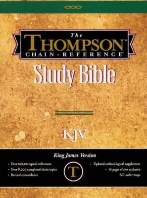 KJV Thompson Chain-Reference Handy Size Indexed Bible (Bonded Leather)
