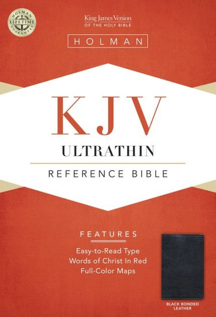 KJV Ultrathin Reference Bible, Black Bonded Leather (Bonded Leather)