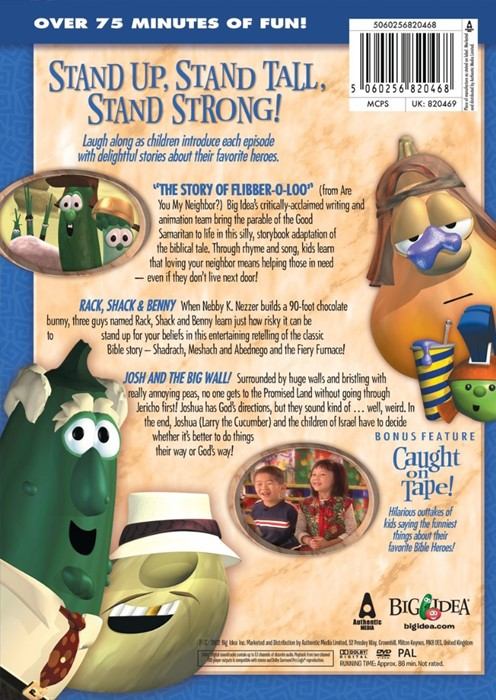 Veggie Tales Heroes Of The Bible Vol 2 Dvd Stand Up