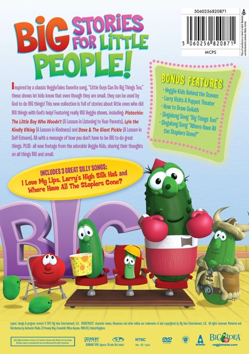 Veggie Tales: Little Ones Can Do Big Things Too!  DVD (DVD)