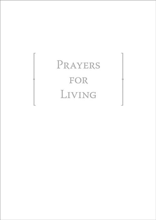 Prayers For Living (Leather Binding)