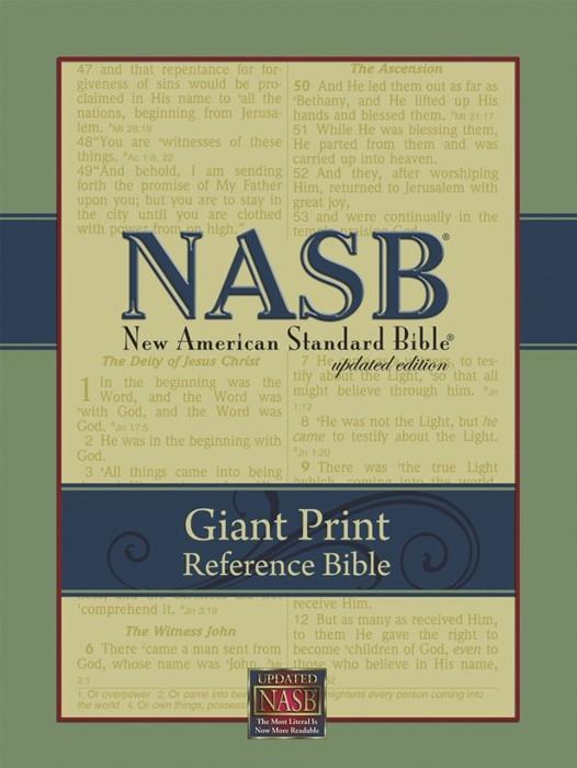 NASB Giant-Print Reference Bible Black (Leathertex)