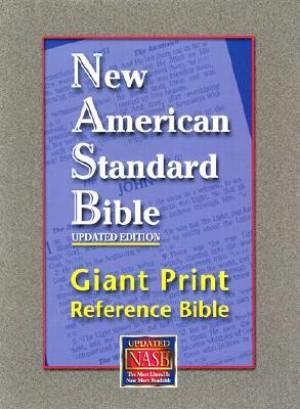 NASB Giant-Print Reference Bible (Leather Binding)