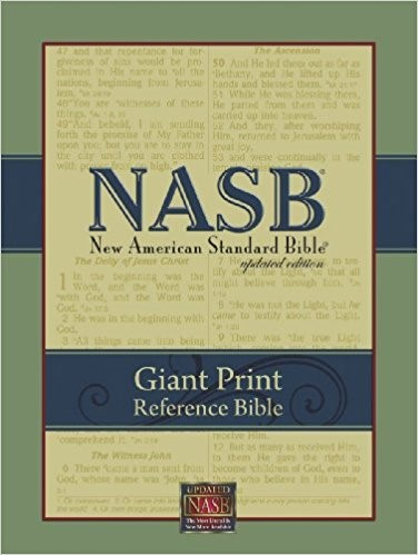 NASB Giant-Print Reference Bible Black (Leather Binding)
