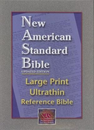 NASB Large Print Ultrathin Reference Bible (Bonded Leather)