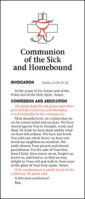 Communion Of The Sick And Homebound (Tracts)