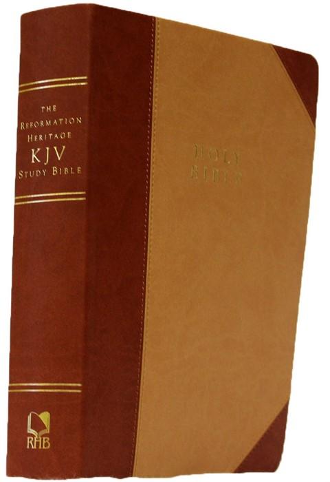 KJV Reformation Heritage Study Bible, Tan/Burgundy (Imitation Leather)