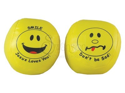 Printed Smiley Ball Pk 24