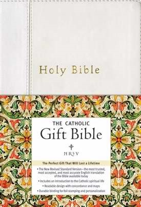 NRSV Catholic Gift Bible, White (Imitation Leather)