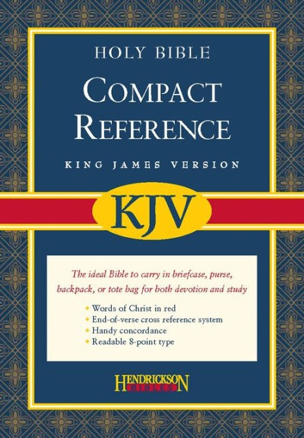 KJV Compact Reference Conc RL Flap Burg (Bonded Leather)