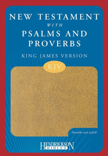 KJV New Testament with Psalms and Proverbs, Tan (Imitation Leather)