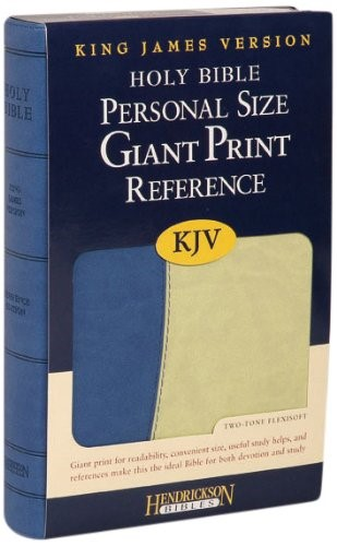 KJV Giant Print Personal Size Reference Bible, Blue/Green (Flexisoft)
