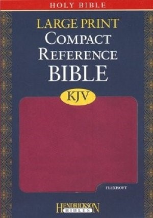 KJV Large Print Compact Reference Bible, Berry (Flexisoft)