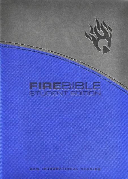 NIV Fire Bible Student Edition, Gray/Blue