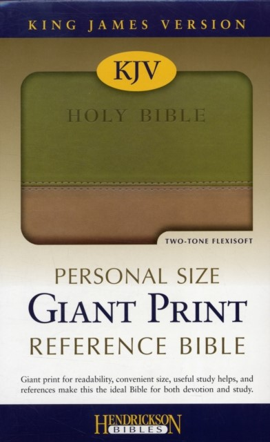 KJV Giant Print Personal Size Reference Bible, Tan/Olive (Flexisoft)