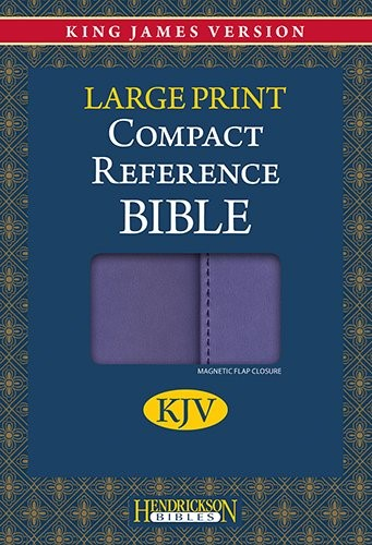KJV Large Print Compact Reference Bible with Flap, Lilac (Flexisoft)