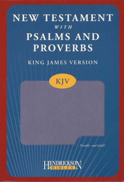 KJV New Testament with Psalms and Proverbs, Lilac (Imitation Leather)