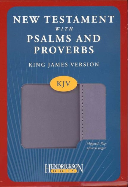 KJV New Testament with Psalms & Proverbs Magnetic Flap Lilac (Imitation Leather)