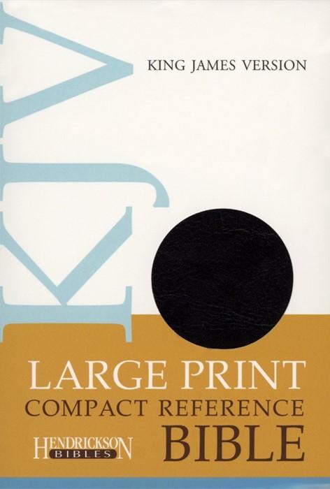 KJV Large Print Compact Reference Bible, Black (Flexisoft)