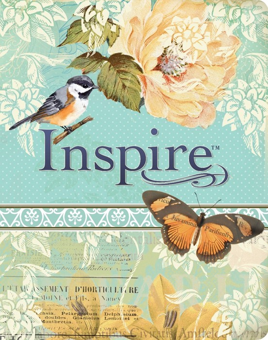 NLT Inspire Bible Blue/Cream (Imitation Leather)